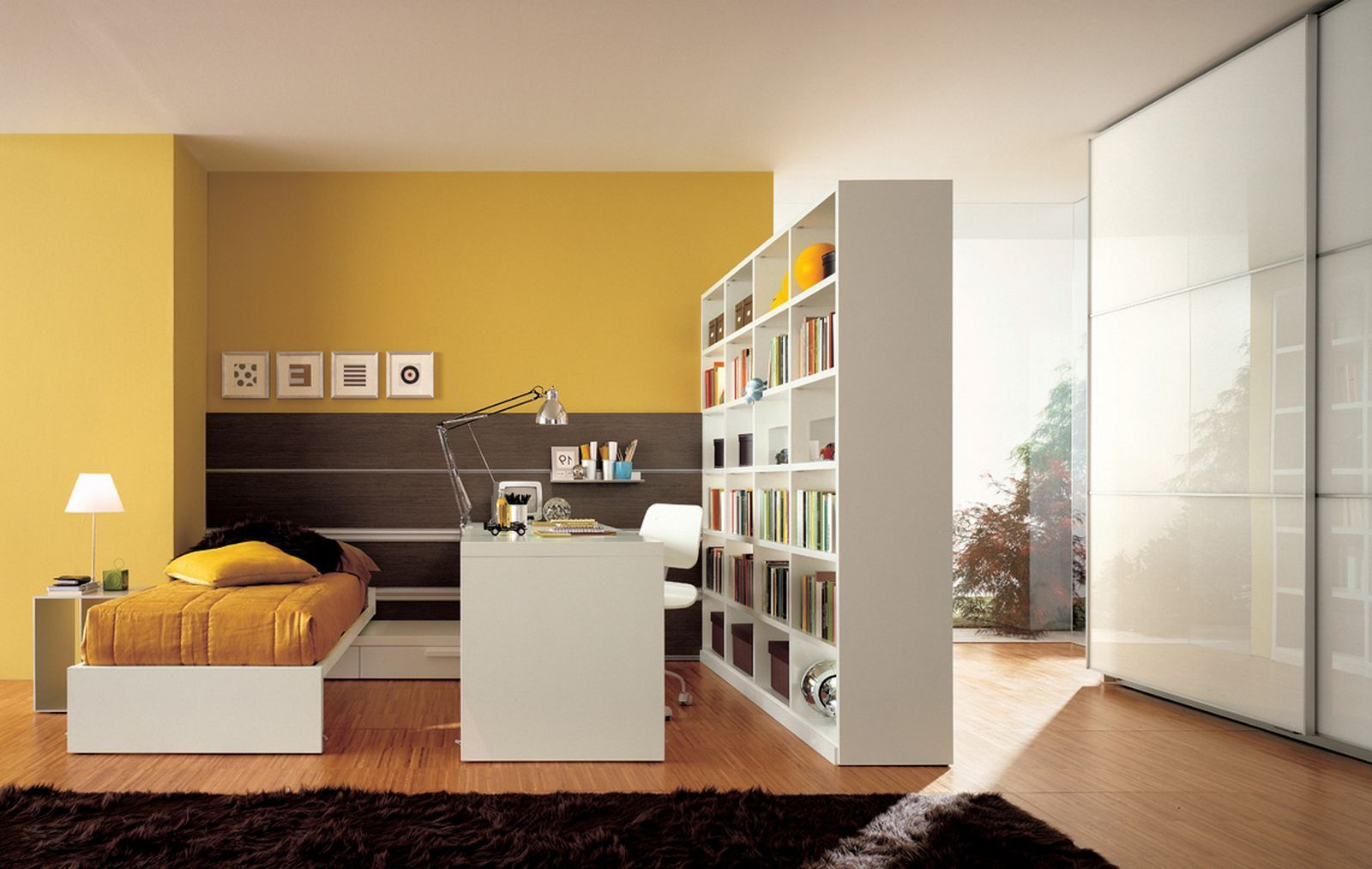 Wall Separator Ideas Interior  Unique Room Divider Ideas Without Walls  Bookshelf Is