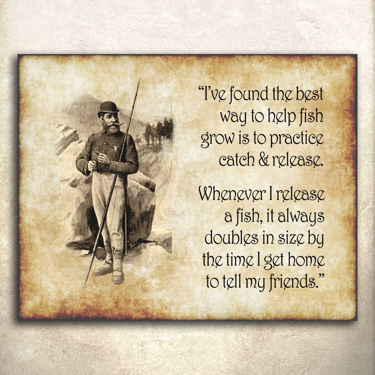 Vintage fishing humor quote and art