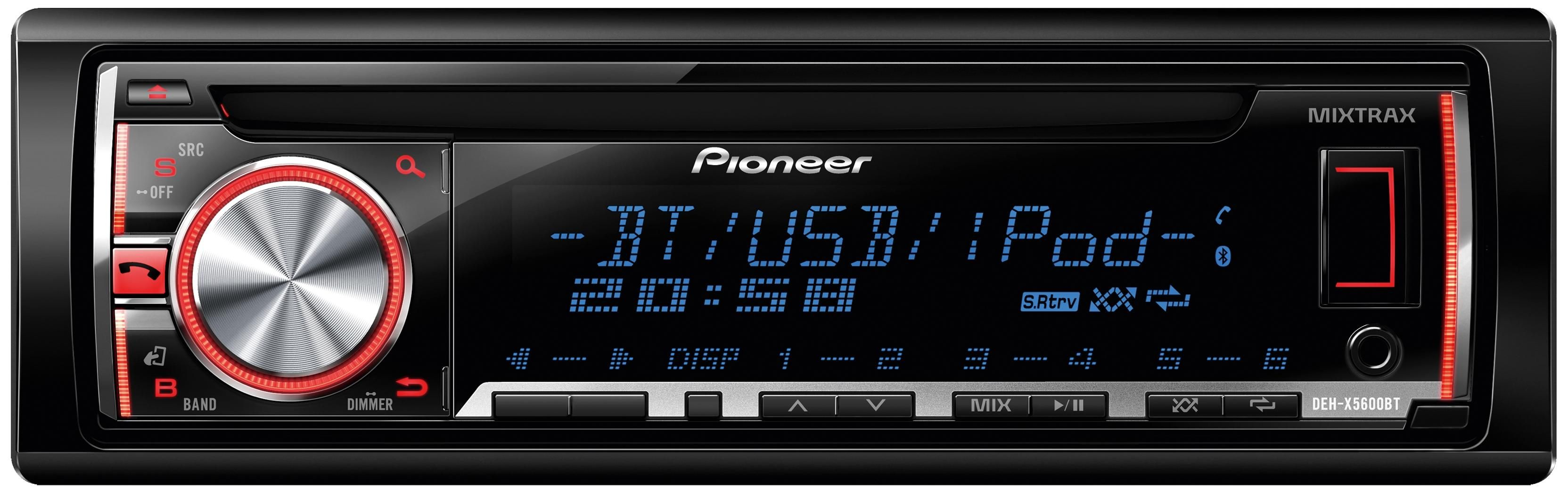 Pioneer Deh X5600bt Car Stereo With Bluetooth Car Stereo Bluetooth Car Stereo Car Usb