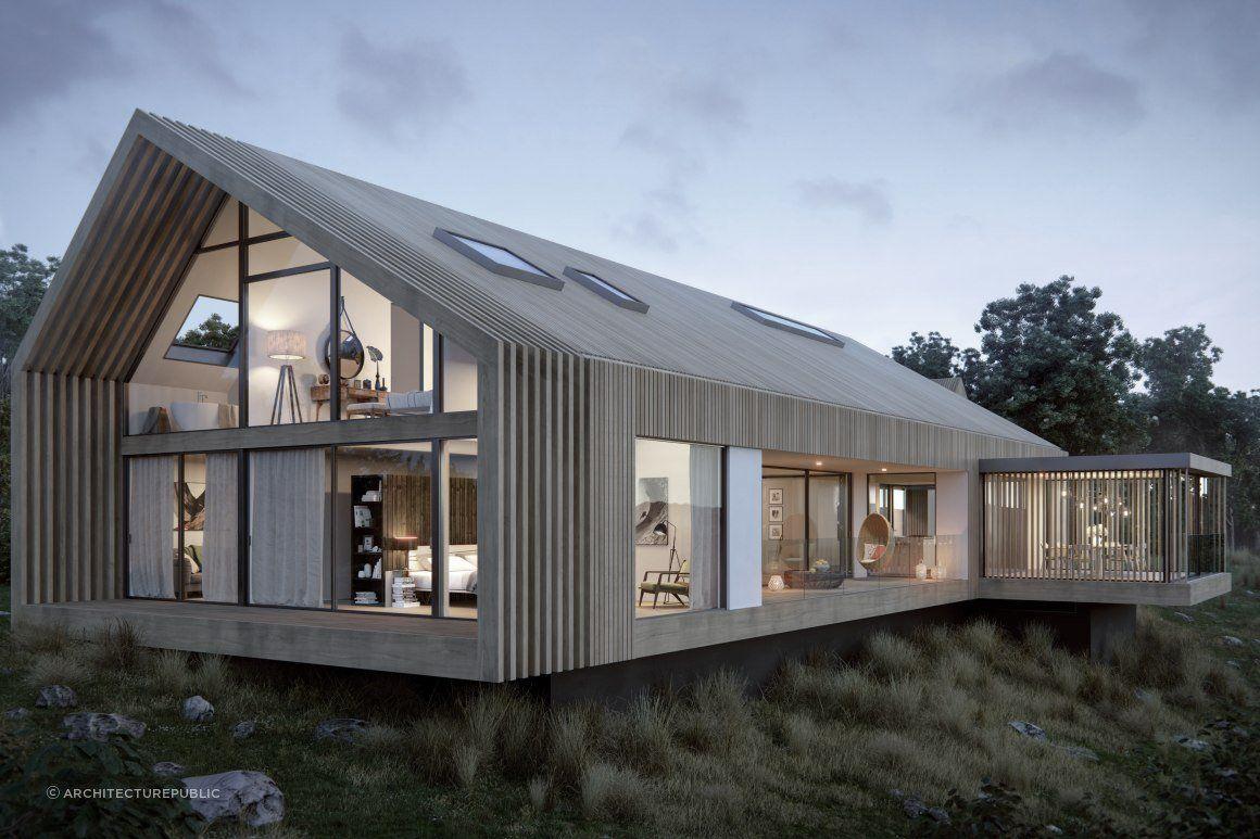 Contemporary Barn House - Architecturepublic » archipro.co.nz
