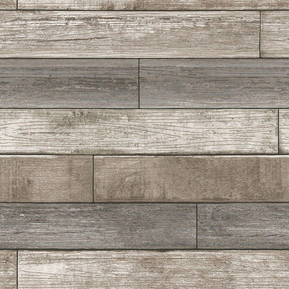 Nuwallpaper Reclaimed Wood Plank Natural Peel Stick Wallpaper Gray Wood Plank Wallpaper Wood Wallpaper Peel And Stick Wood