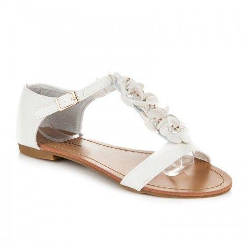 Dámské sandály Kerena bílé – bílá Krásné sandálky pro krásné letní dny.  Bílé sandály se eb755d10c7