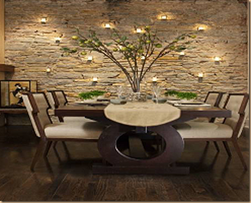 Exotic Natural Stone Accent Wall My Favorite Walls Love That Dining Room Table