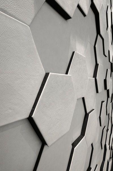 Wall covering by CUIR AU CARRÉ | TILE | Pinterest