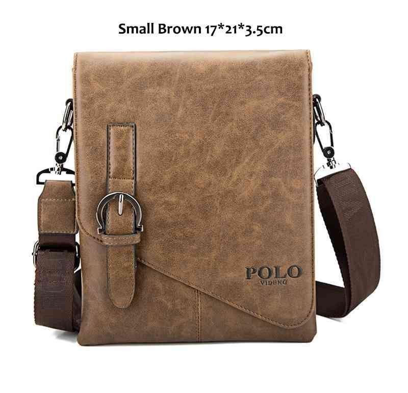 e00a45d97e93 VICUNA POLO Unique Buckle Design Irregular Cover Open Mens Messenger Bag 2  Sizes Business Men Crossbody Bag Leather Man Bag Hot