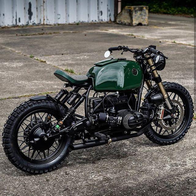 """Photo of Bikers with Style on Instagram: """"BMW R100 ?: @arjanvandenboom ➖➖➖➖➖➖➖ ⚡Follow us @gentlebikers for the best motorbikes on IG ⚡ . . . . . .  #gentlebikers #scrambler…"""""""