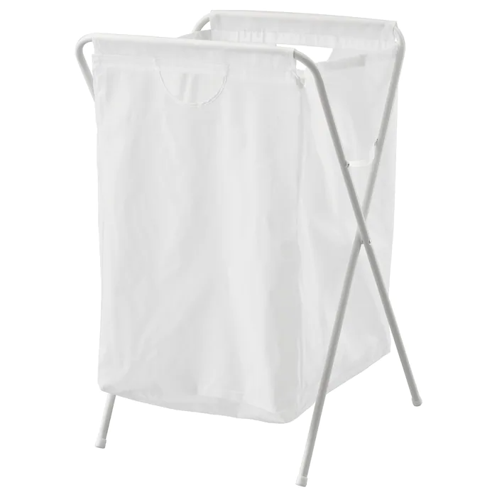 Jall White Laundry Bag With Stand Ikea In 2020 Laundry Bag