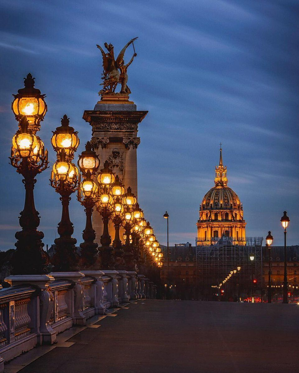 Architecture @archpics The City of Lights. Photo by Aimee Hernandez at Pont Alexandre lll, Paris