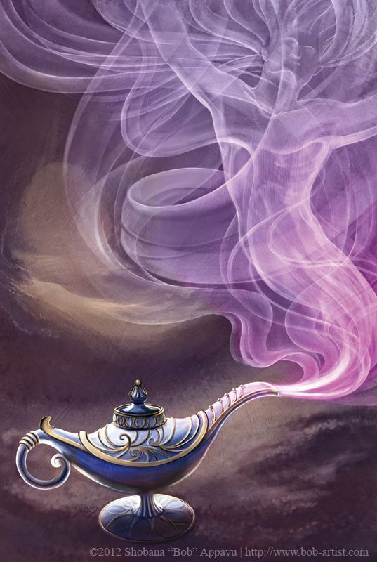 Genie lamp. What If you found your own magic lamp? What would you wish for?