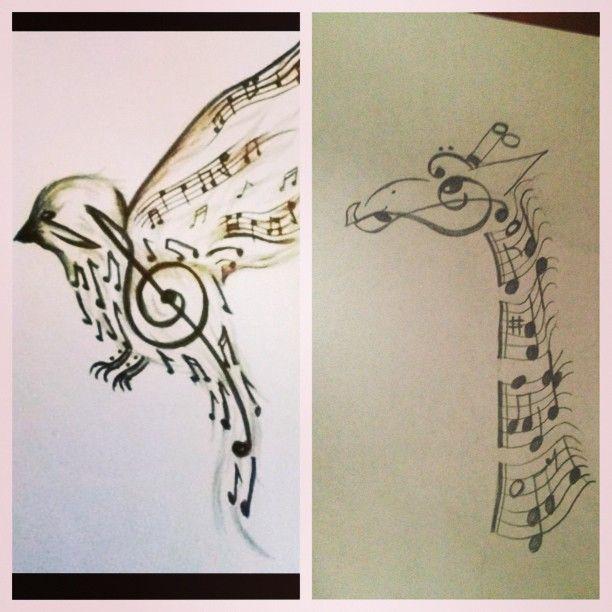 6bfc65169 My sister's giraffe tattoo design for my niece. | Furlough Tattoo ...