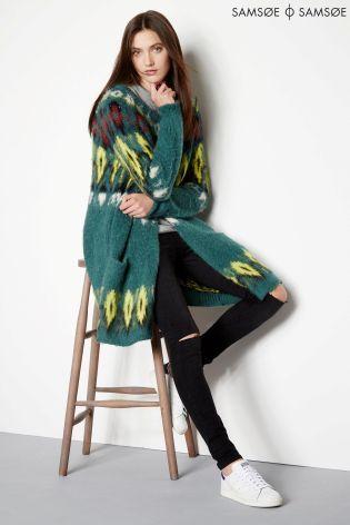 Buy Samsoe Green Fairisle Cardigan from the Next UK online shop ...