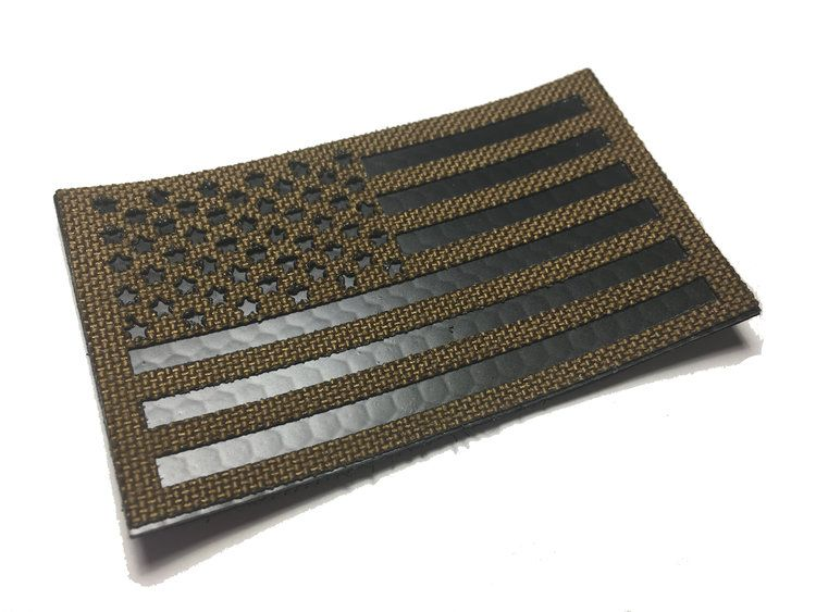 """Large US Flag Patch 5/"""" x 3/"""" Coyote Brown"""
