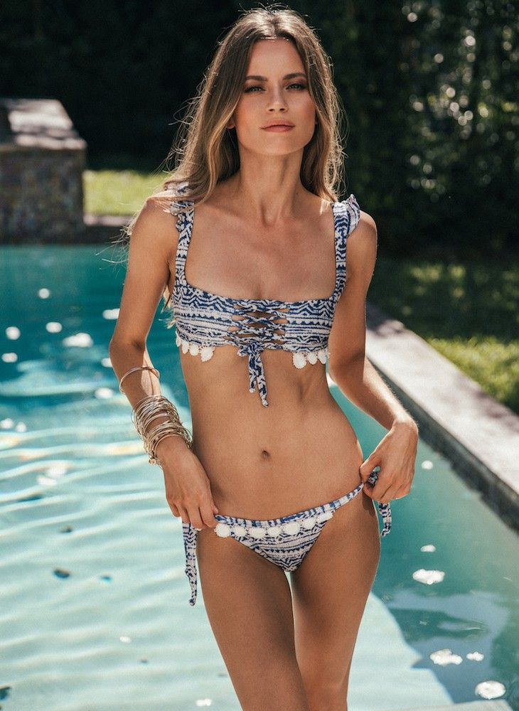 4cf13d515c11a Ruffle Bikini in Blue Tribal | Nic del Mar | n i c d e l m a r ...