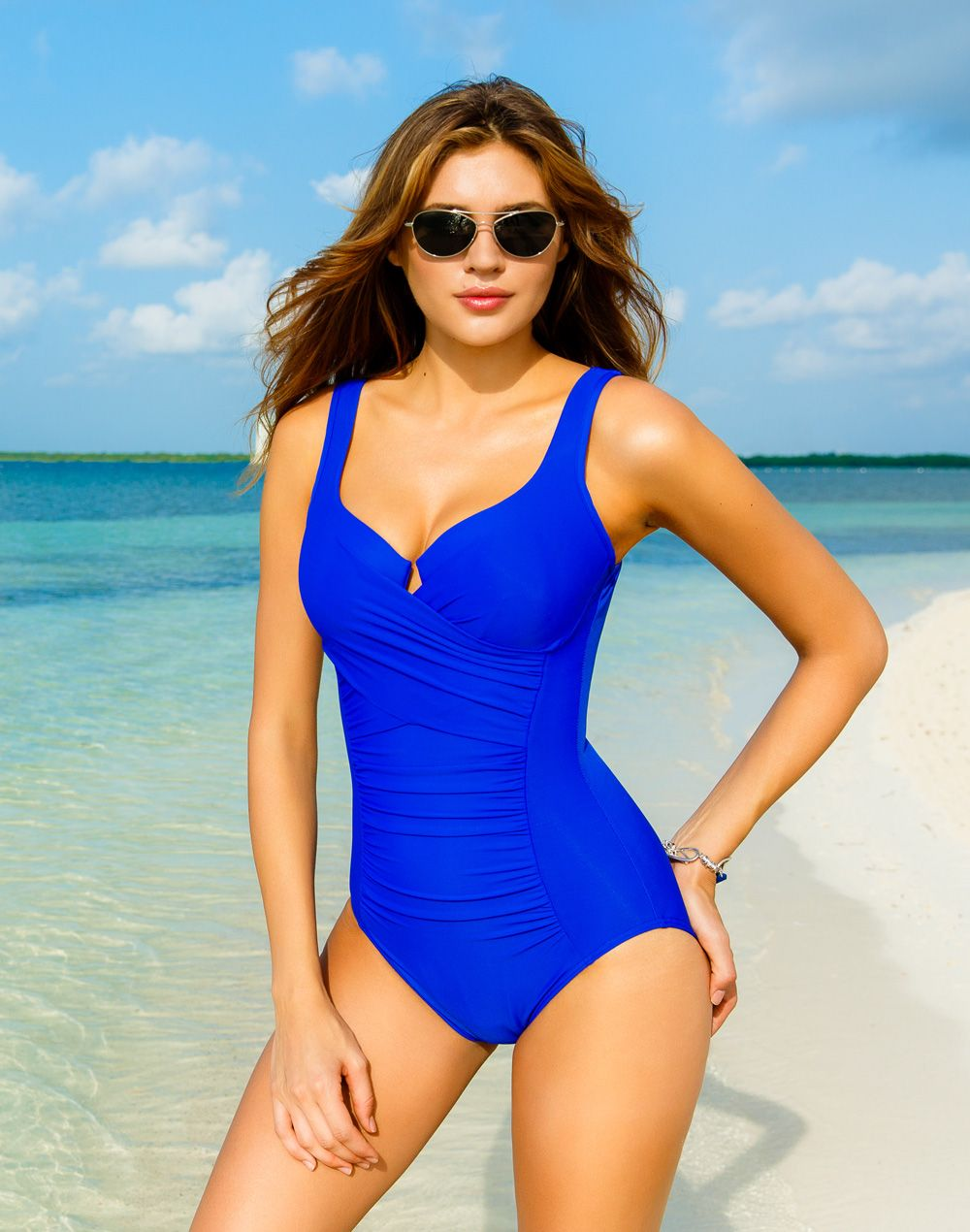 f5e9fd0dc9 The Ambrosia Solid Underwire Mio One Piece swimsuit by Miraclesuit. This  royal blue bathing suit is slimming and chic. Part of the exclusive 2015  summer ...