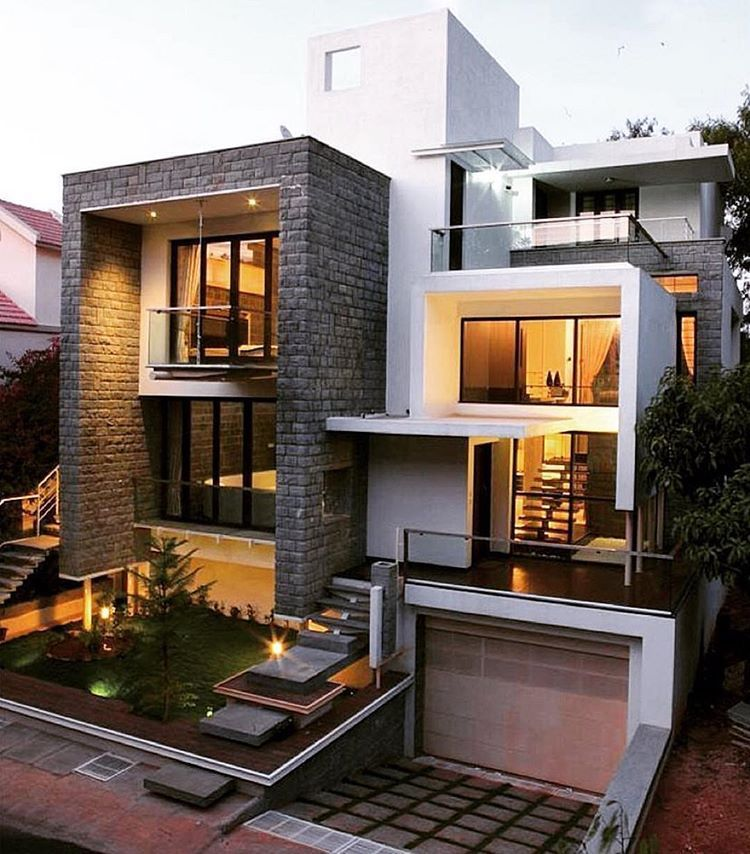 Home Design Ideas Bangalore: Nnested Box House By Technoarchitecture Inc. Architects