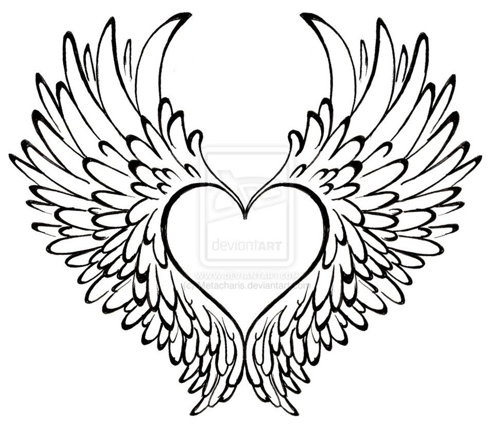 Heart with Wings Tattoo by ~Metacharis on deviantART ...