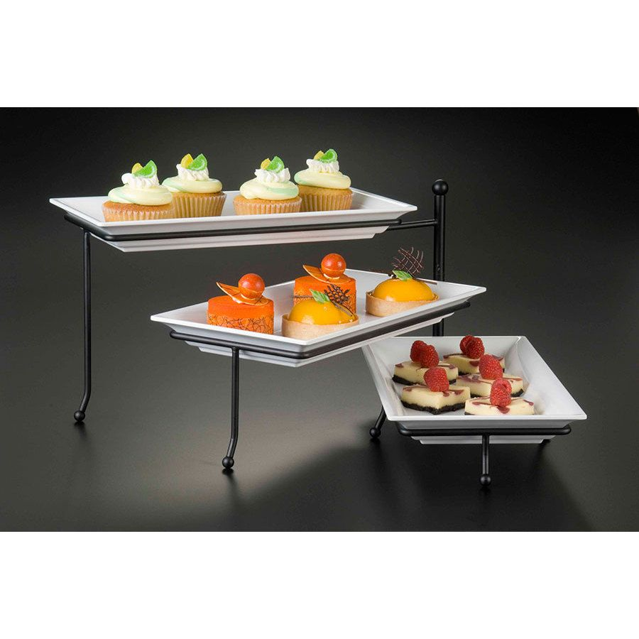 Peachy American Metalcraft Ttrec3 Ironworks Three Tier Foldable Beutiful Home Inspiration Cosmmahrainfo