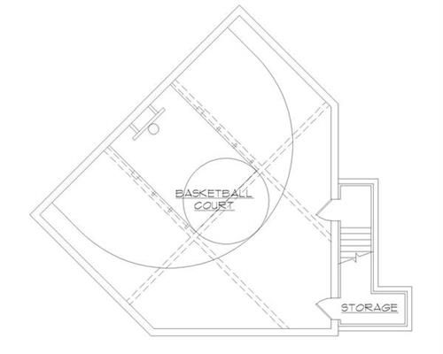 Building a home plan with an indoor basketball court for Floor plans with indoor basketball court
