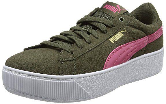 Puma Damen Vikky Platform Sneaker, Grün (Olive Night Rapture
