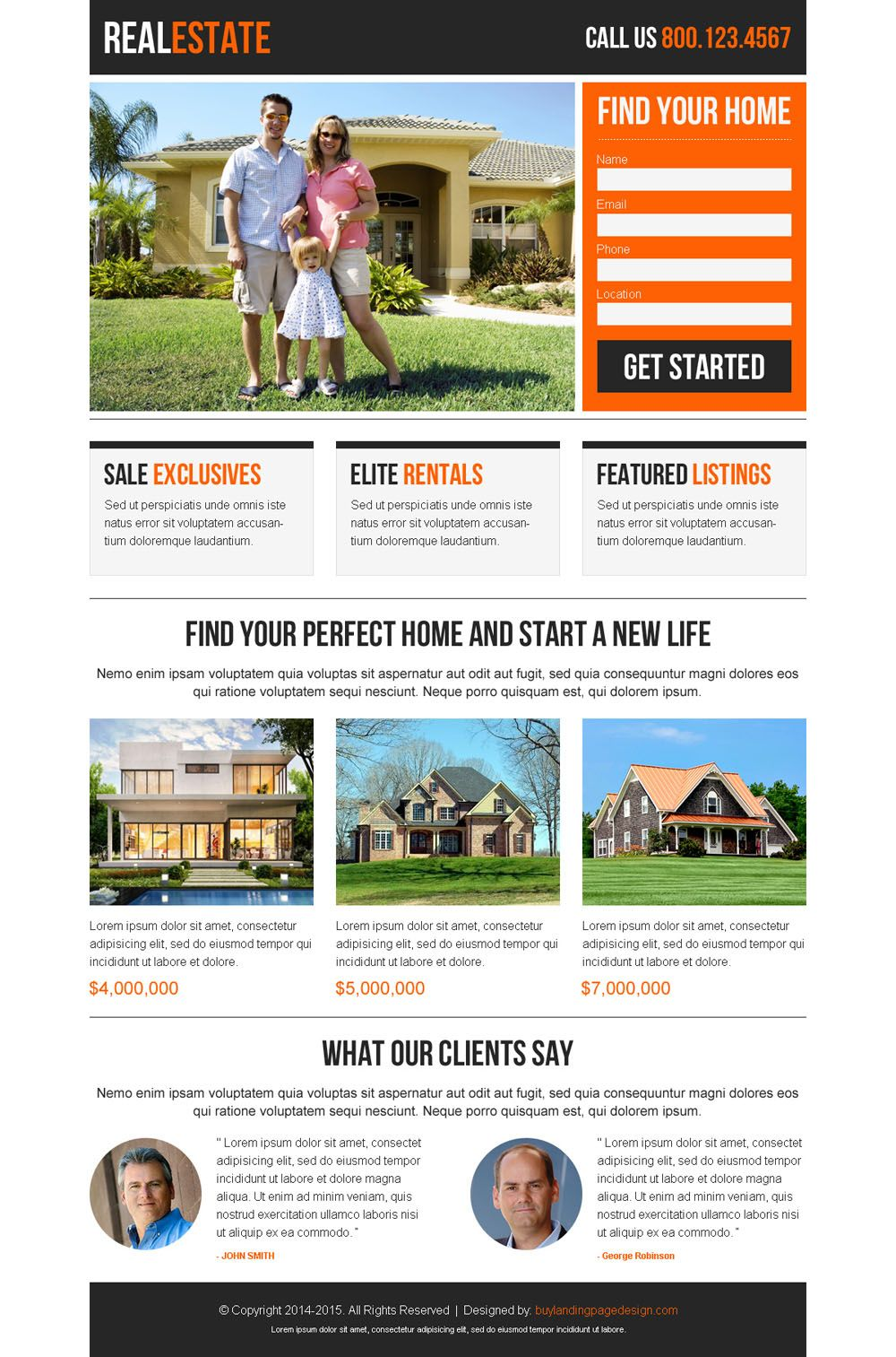 Best Real Estate Clean And Appealing Lead Capture Responsive Landing Page Design Real Estate Landing Pages Real Estate Website Design Real Estate