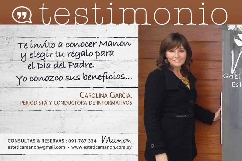 Gracias Carolina García por confiar en nosotros!!  Que tú te cuides, tambien es nuestra responsabilidad! Por más info: 091 787 334 - esteticamanon@gmail.com