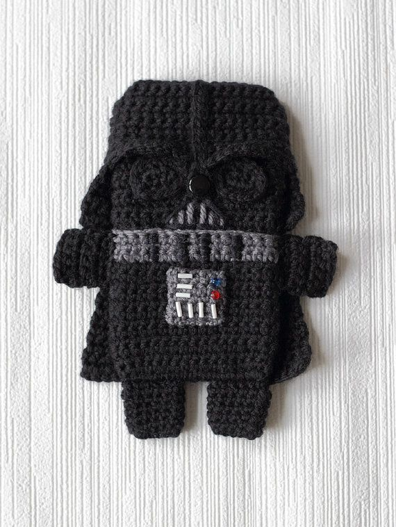 Pattern Of Darth Vadar Crochet Iphone Case On Etsy Crochet Cases