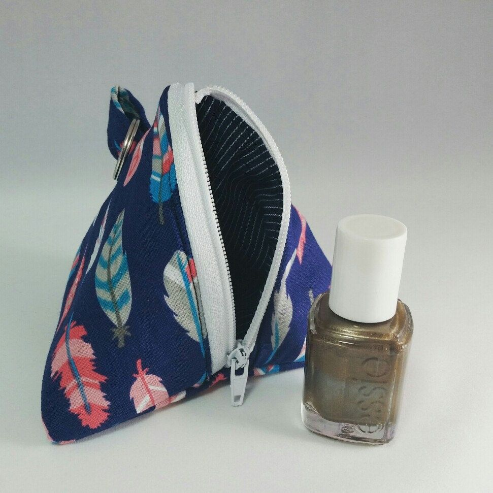 This last weekend had me thinking about lil' gifts and ways to present them! These polish pouches are perfect for bridesmaid, Birthday,EVERYDAY gifts! Holds 4 polishes(or anything else smalish) in a charming triangle shape. Check out all the new pouches