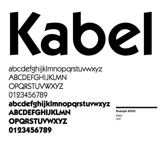 Rudolph Koch - Kabel - 1926 via Xavier Senente