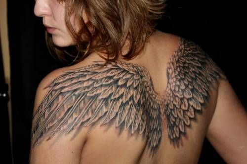 Wings Tattoo Designs For Girls Girl Tattoo Angels Wings Back