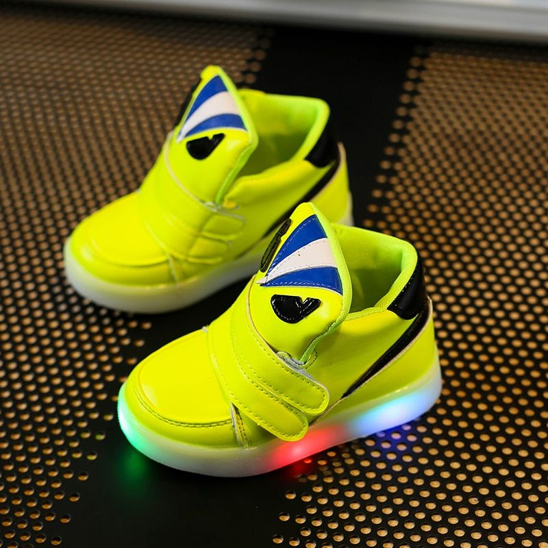 Children Shoes With Light Chaussure Led Enfant Spring Autumn New Cartoon Led Girls Shoes Sports Breathable Boys Sneakers Shoes - Kid Shop Global - Kids & Baby Shop Online - baby & kids clothing, toys for baby & kid