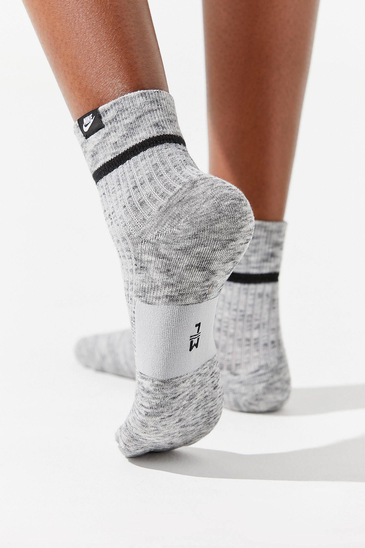 Women Men Teenager With Sneakers Bike Pattern Cushion Ankle Socks