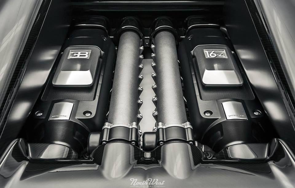 Pictured Bugatti Veyron 16.4 Grand Sport Vitesse engine