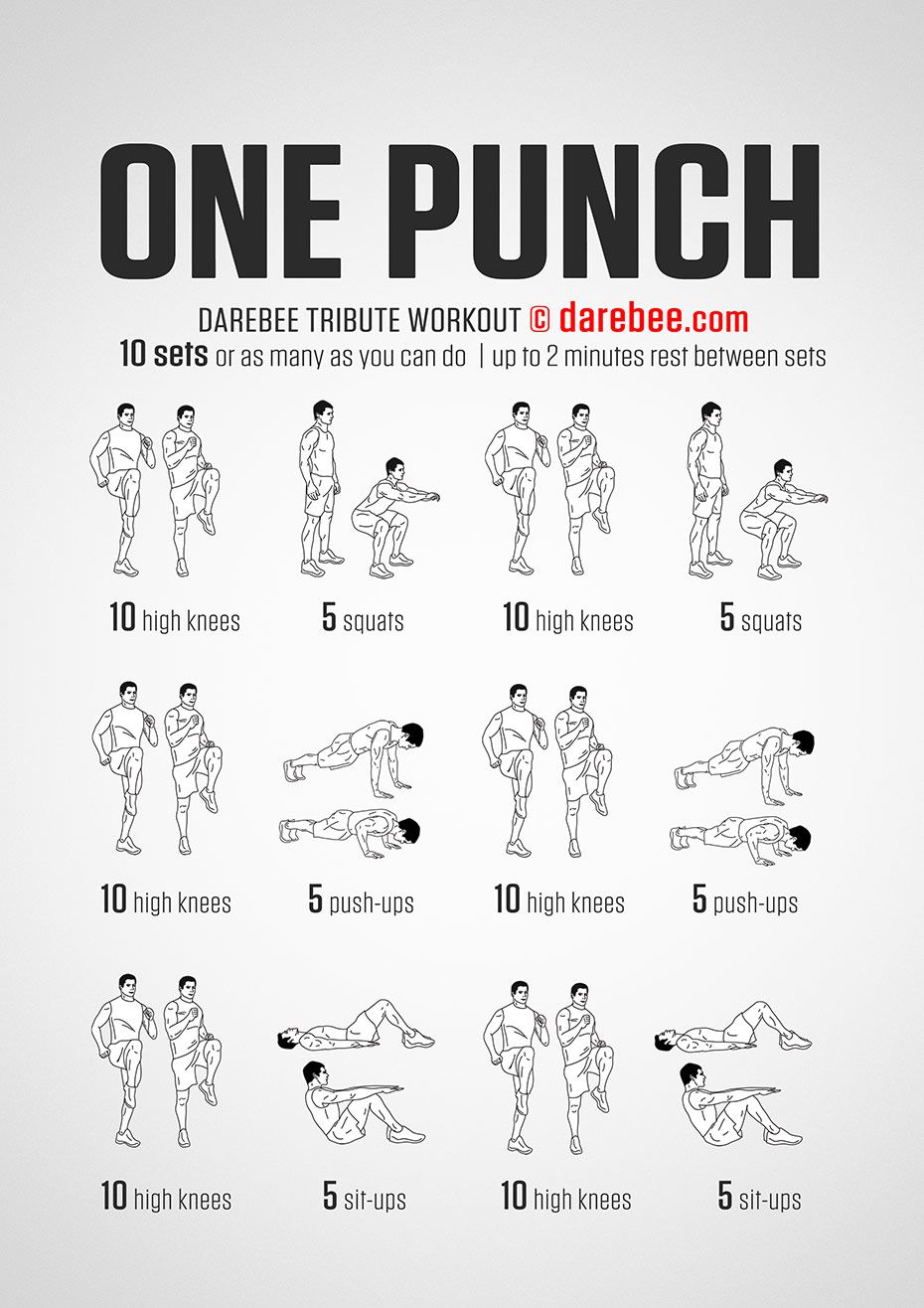 Darebee One Punch workout - The One Punch workout is an ...