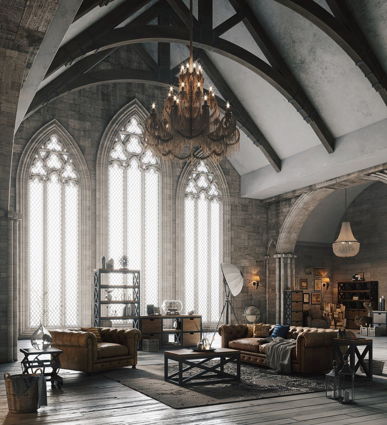Best Home Style Inspiration Modern Gothic Style Homes In 2020 Loft Style Furniture Loft Design Loft Style