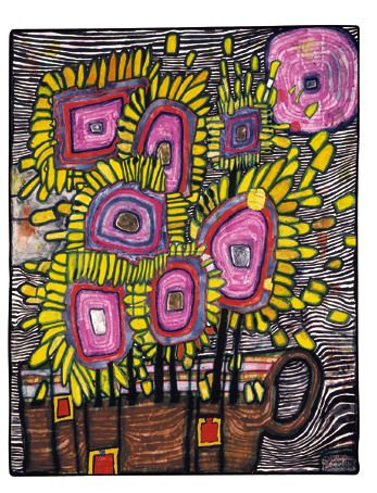 Paintings   Hundertwasser Homage To Van Gogh