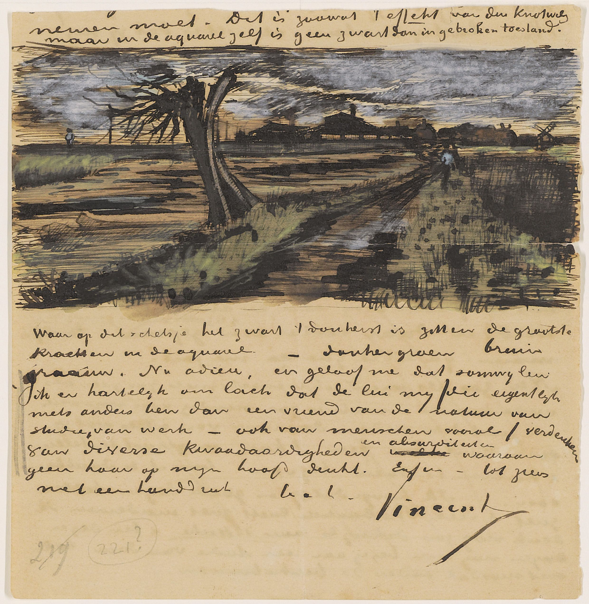 vincent van gogh pollard willow letter to theo van gogh the