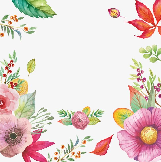 Watercolor Flowers Vector Material Free Png Watercolor