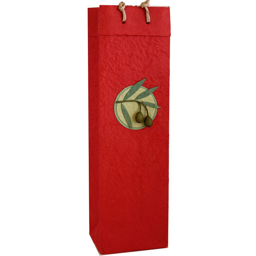 Bb1 Castilla Red Wine Bag Bottle Carrier Paper Wine Tags