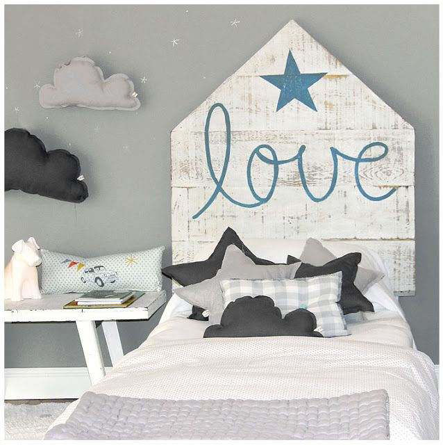 Cabeceros hechos con pal s palets beads kid s room - Cabeceros hechos con palets ...