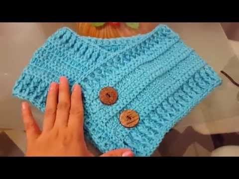 Bufanda Cuello a Crochet con Botones \