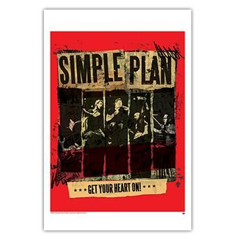 Simple Plan - Live Band Poster - Posters - Official Merch ...