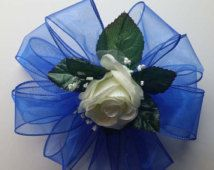 blue roses and baby's breath nosegay - Google Search