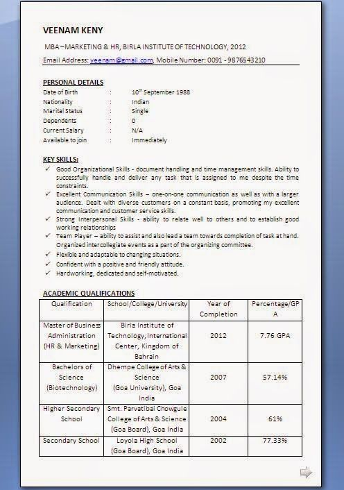 curriculum vitae wiki Sample Template Example ofExcellent - current resume format examples