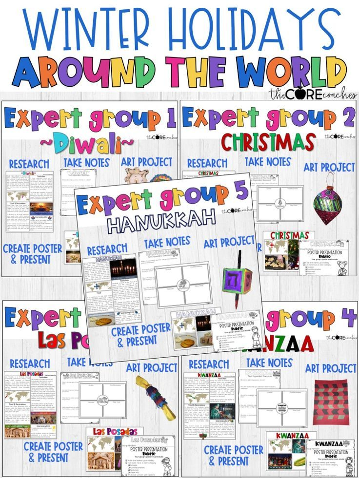 Holidays Around The World 4 6 Research Writing