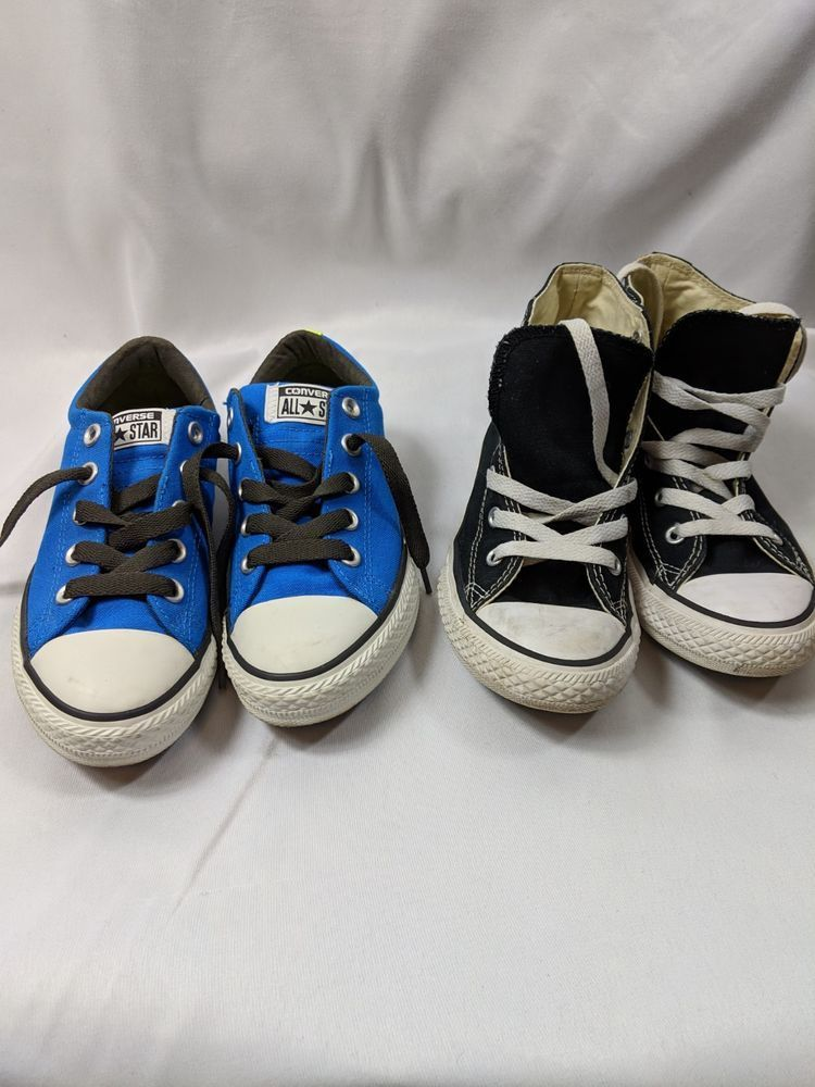 13b05e9d31cdf4 2 pairs of CONVERSE ALLSTARS YOUTH ORIGINAL SIZE 1  fashion  clothing   shoes  accessories  kidsclothingshoesaccs  girlsshoes (ebay link)