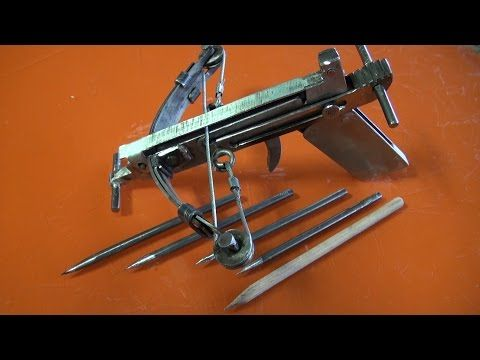 c mo hacer una mini scorpyd crossbow 2 youtube how to make a 45 pound pvc slingbow for 5. Black Bedroom Furniture Sets. Home Design Ideas