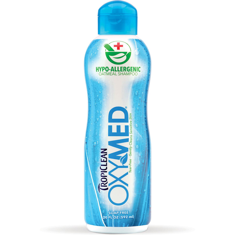 TropiClean OxyMed HypoAllergenic Oatmeal Pet Shampoo, 20