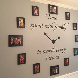 Time Spent with Family Decal #2 - Time Spent with