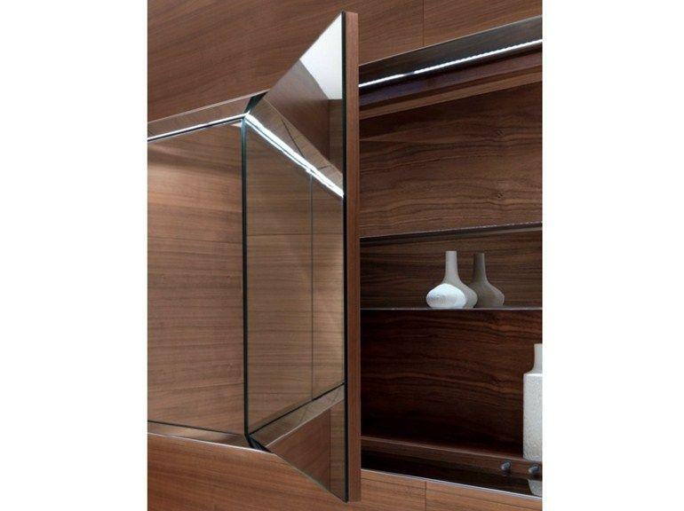 Espejo de pared con contenedor para ba o atelier level 45 for Bajo gabinete tocador bano de madera
