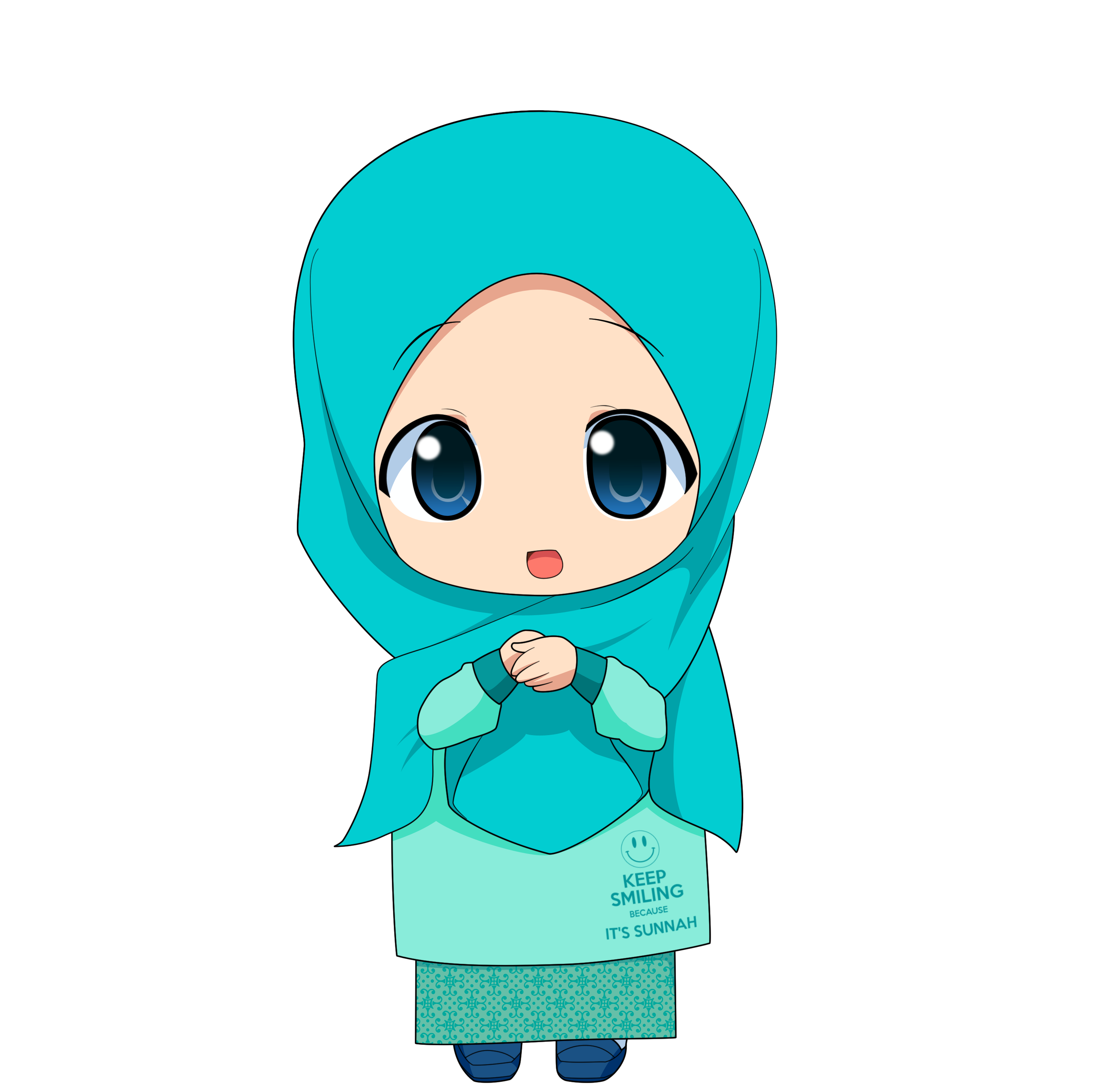 Kartun Muslimah Apple Macbook Transparent Png | Azhan.co